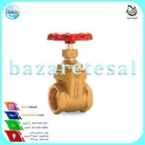 شیر فلکه برنجی کشویی کیز ایران , بازار اتصال , کیز ایران